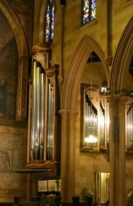 The north ranks of the Manton Memorial Organ