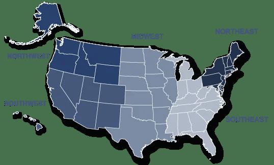 Ascentec Service Regions