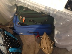 We use suitcases to transport our inventory to the armory.