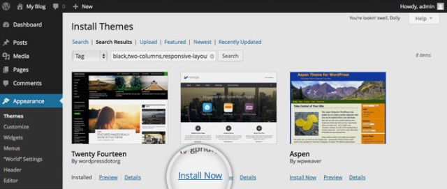 How to install new theme in WordPress