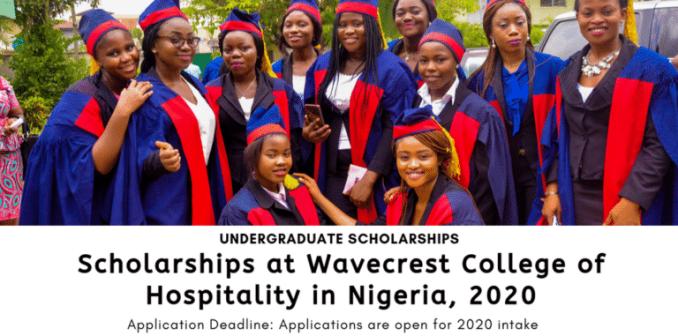 scholarships wavecrest college hospitality nigeria