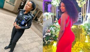Photos of a beautiful Nigerian female police officer goes viral