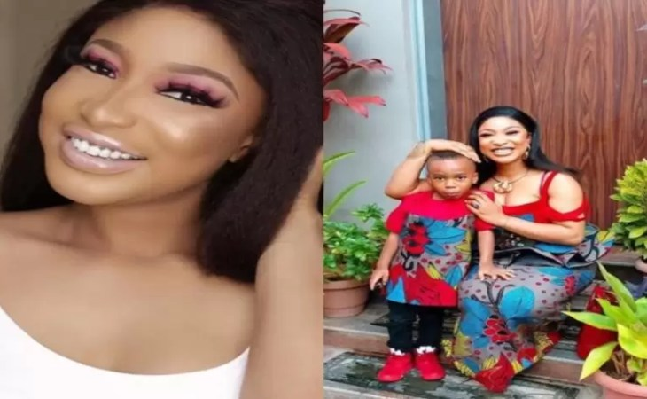 'My son told me he didn't like the outfit i wore to his school' -Tonto Dikeh reveals 1