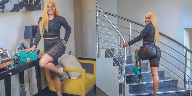'This Shameless Lady Does Not Know She's A Mother''- Fans Blast Actress Yvonne Jegede For Wearing A Sheer Dress 1