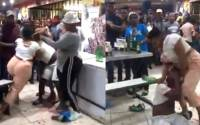 South African woman beats up her Husband after catching him with a side chick (video) 2