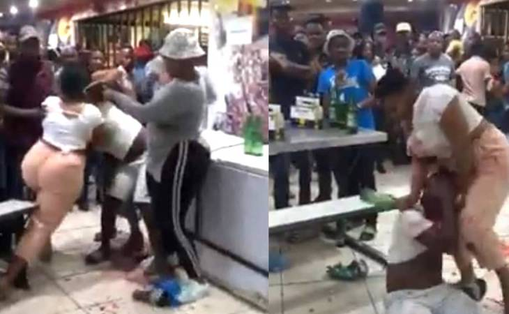 South African woman beats up her Husband after catching him with a side chick (video) 1