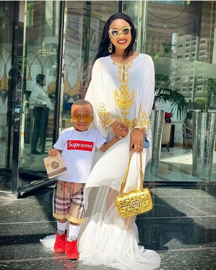 'My son told me he didn't like the outfit i wore to his school' -Tonto Dikeh reveals