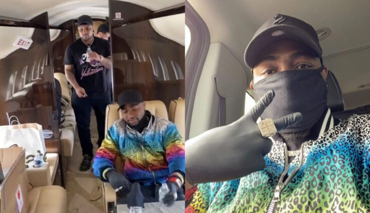 Davido Sadly Returns To Nigeria In His Father's New Private Jet After Suspending US Tour (VIDEO) 1