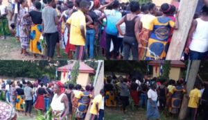Stray bullet hits noodles seller after police allegedly fired shots to disperse protesting women in Cross River 1