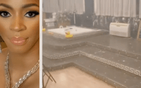 (Watch Video) Billionaire wife, Shade Okoya's massive bathroom causes a stir online | video 1