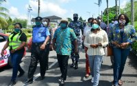 Photos of Gov Ben Ayade consistently matching shirt with facemask as FG encourages local production 2