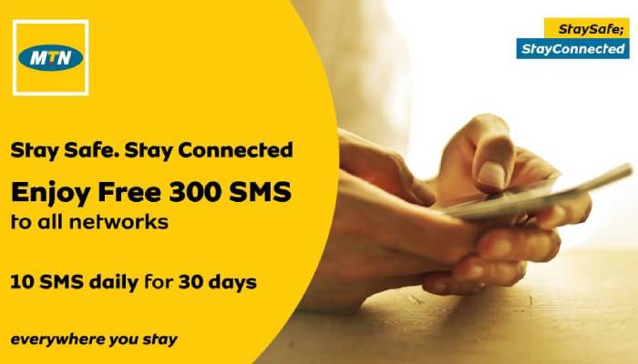 Lock Down: MTN gives out 300 Free SMS to all Networks for 30 days (photo) 2