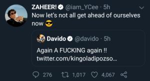 Rapper Ycee & Davido Fight Dirty On Social Media 2