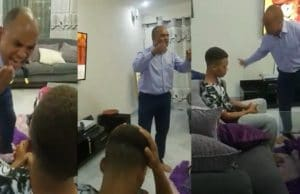 Angry dad slaps his son multiple times for failing woefully in school despite paying N8 million school fees (Video)