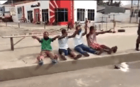 Lol. Lockdown violators sing the 'Coronavirus song' after arrest in Rivers state (video)