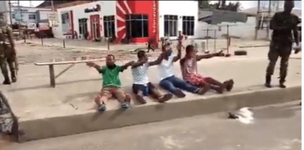 Lol. Lockdown violators sing the 'Coronavirus song' after arrest in Rivers state (video)