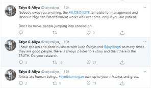 'Nobody owes you anything' – Yemi Alade's record label boss, Taiye Aliyu tells Cynthia Morgan
