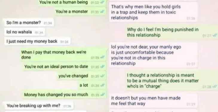 Lady blasts boyfriend for giving out her money to his family members