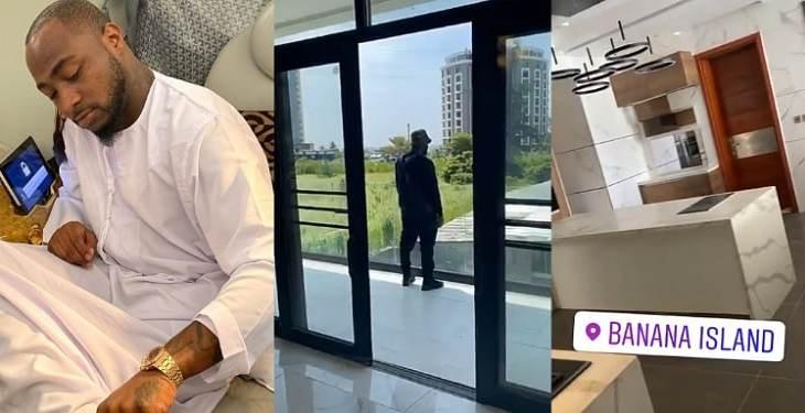 Davido shows off his multimillion naira mansion in banana island (Video)