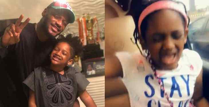 This video of 2face's daughter singing Simi's 'duduke' will melt your heart