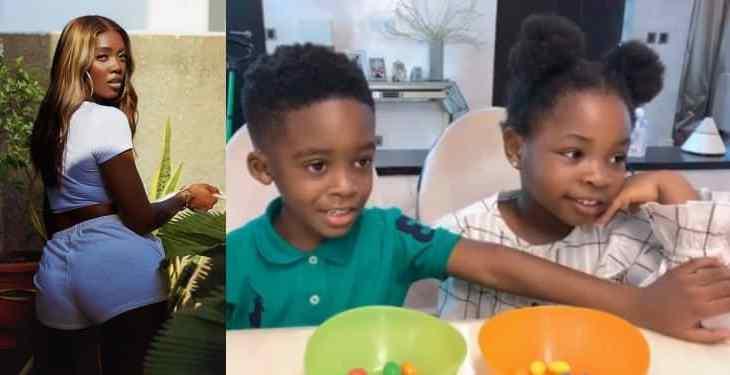 #Fruitsnackchallenge: Tiwa Savage shares heartwarming video of son, Jamjam and Davido's daughter, Imade