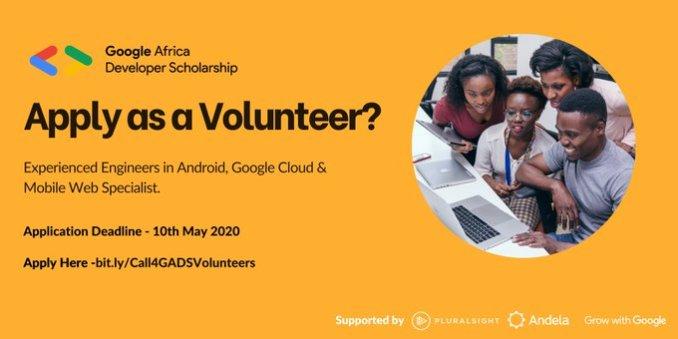 Volunteer to be a Google Africa Developer Scholarship Mentor 2020