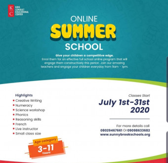 Enrol in a virtual summer school experience right from your home! Kids Consult Summer School 2020 is the best online school in Lekki 1
