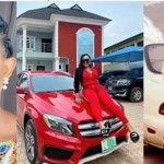 Mercy Aigbe counts her blessings as she shares throwback photo of her Mazda 929