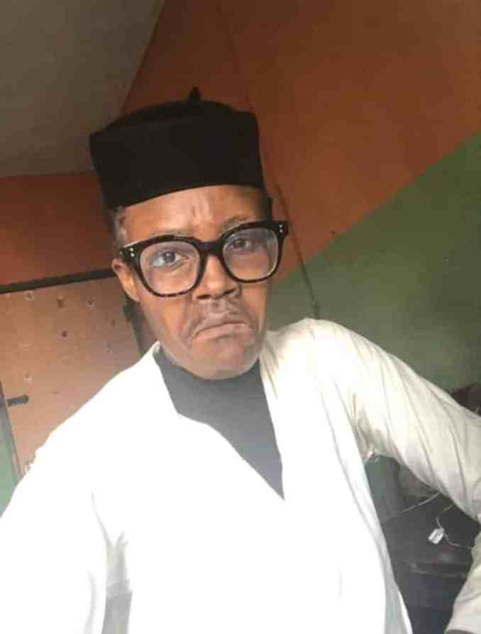 WOW... Nigerians react as talented makeup artist paints her face to look like Buhari (Photos) 4
