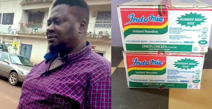 Nigerians blast man for returning N1.8million found inside carton of indomie he bought