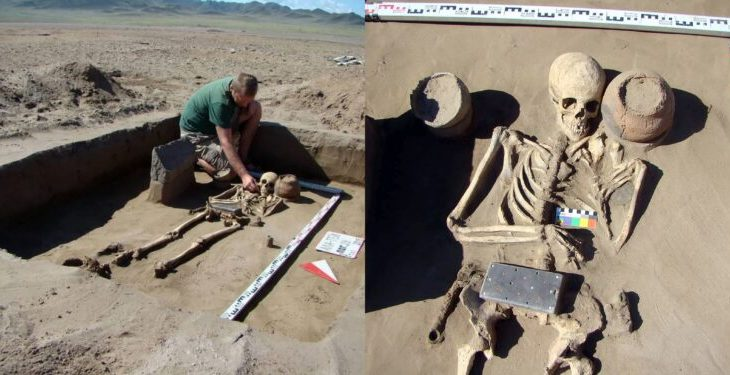 Drama as Archaeologists discover 2,100-year-old skeleton buried with an 'iPhone' (Photos) 2