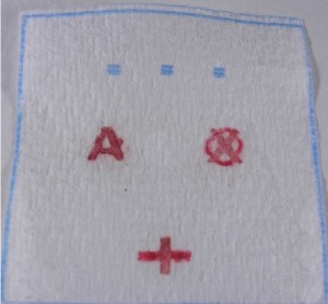 Blood test device