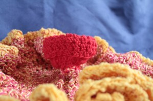 Fire crochet coral close up