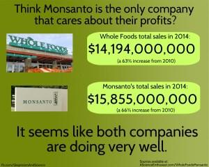 Monsanto GMO vs Whole Foods