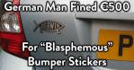 German-Blasphemous-Bumper-Sticker