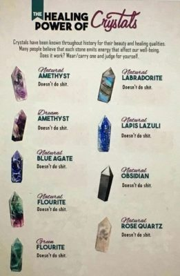 the healing power of crystals meme