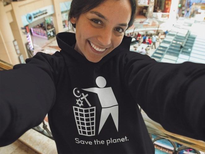 save the planet throw away the bible shirt