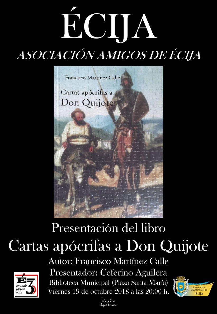 PRESENTACIÓN DEL LIBRO CARTAS  APÓCRIFAS A DON QUIJOTE