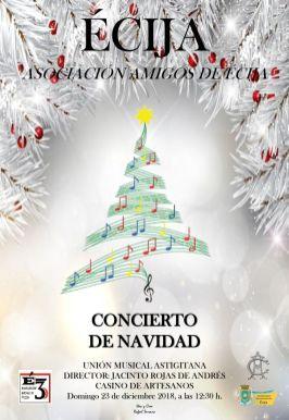 CARTEL AMIGOS DE ECIJA CONCIERTO DE NAVIDAD5555