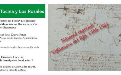 PRESENTACIÓN DE LA REVISTA TOCINA ESTUDIOS LOCALES. REVISTA DE INVESTIGACIÓN LOCAL, NÚM. 7