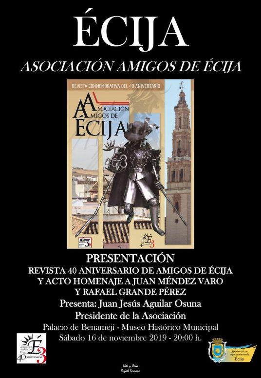 CARTEL AMIGOS DE ECIJA revista 40 aniversario DEFINITIVO NEGRO