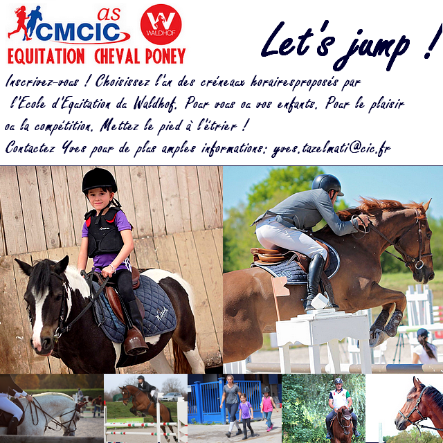 Affiche inscription Equitation V2