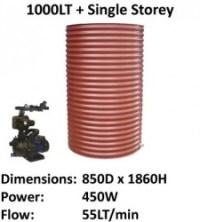 aquaplate 1000lt round single storey