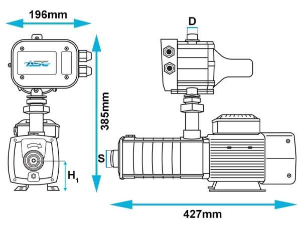ASC M60/120 Domestic Multistage High Pressure Domestic Pump