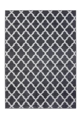 charcoal moroccan tile rug