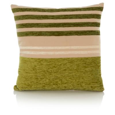 George Home Chenille Stripe Cushion 40x40cm - Green
