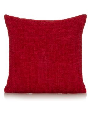 George Home Chenille Cushion 40x40cm - Red