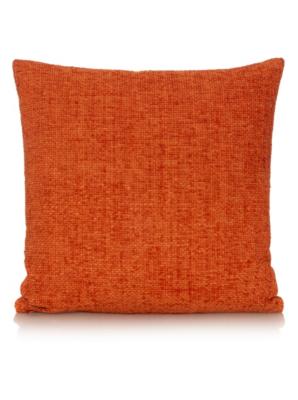George Home Large Orange Chenille Cushion 50x50cm