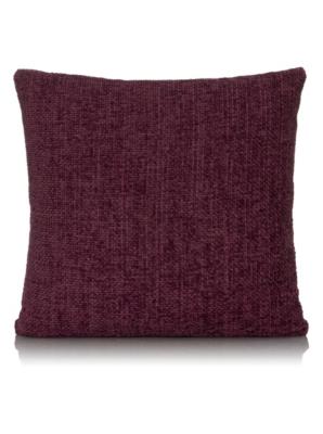 George Home Purple Chenille Cushion 50x50cm