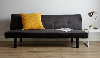 Click-clack 2-seater Sofa Bed - Charcoal